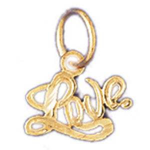 Love Charm Pendant 14k Gold