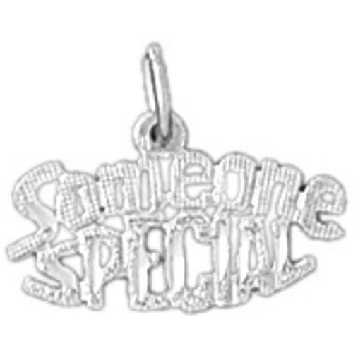 Someone Special Charm Pendant 14k White Gold