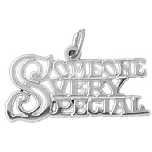 Someone Very Special Charm Pendant 14k White Gold