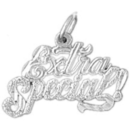 Extra Special Charm Pendant 14k White Gold
