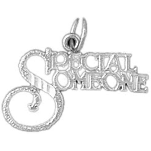 Special Someone Charm Pendant 14k White Gold