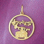 Musical Instruments Charm Pendant 14k Gold