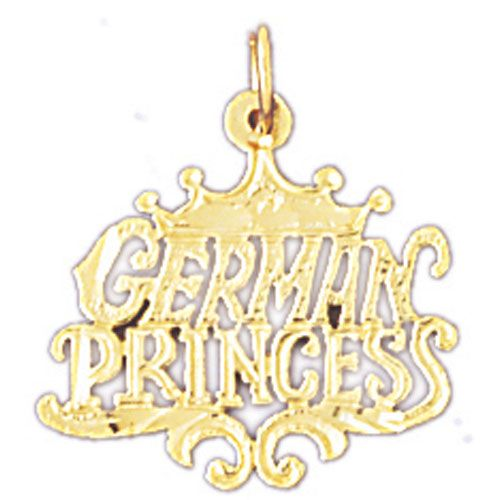 German Princess Charm Pendant 14k Gold