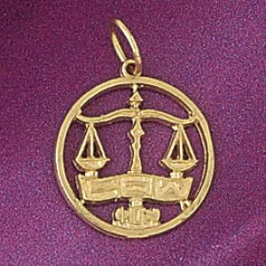 Justice Scale Charm Pendant 14k Gold