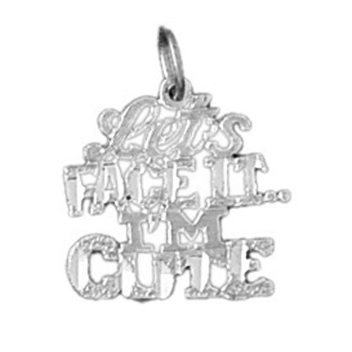 Let'S Face It. I Am Cute Charm Pendant 14k Gold