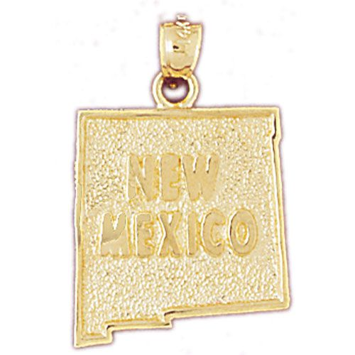 New Mexico State Charm Pendant 14k Gold