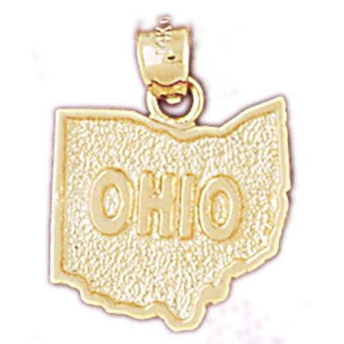 Ohio State Charm Pendant 14k Gold