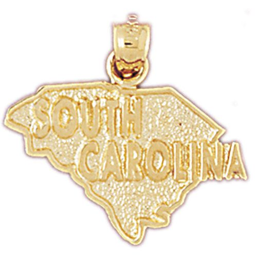 South Carolina State Charm Pendant 14k Gold