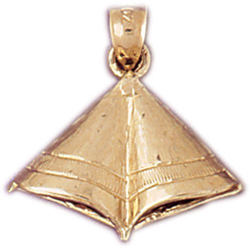 Indian Tent Charm Pendant 14k Gold