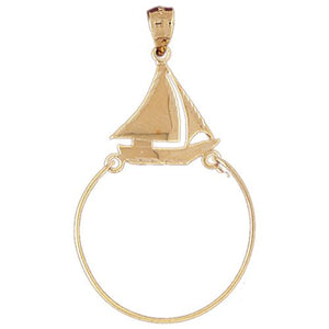 Boat Charm Holder Charm Pendant 14k Gold