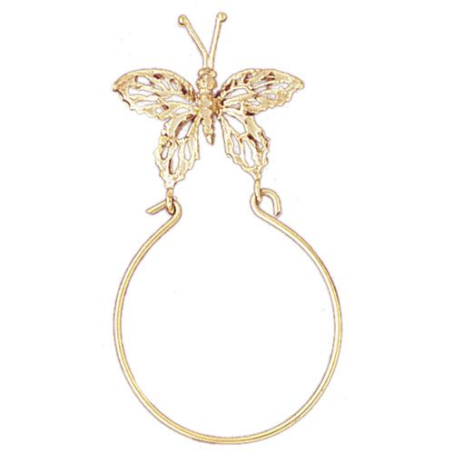 Butterfly Charm Holder Charm Pendant 14k Gold