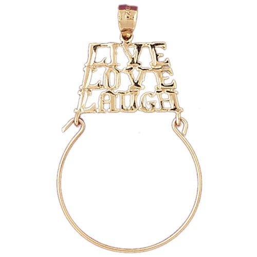 Live Love Laugh Charm Holder Charm Pendant 14k Gold
