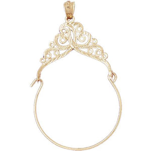 Charm Holder Charm Pendant 14k Gold