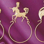 Unicorn Charm Holder Charm Pendant 14k Gold