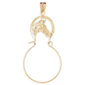 Horse Charm Holder Charm Pendant 14k Gold