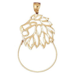 Lion Charm Holder Charm Pendant 14k Gold