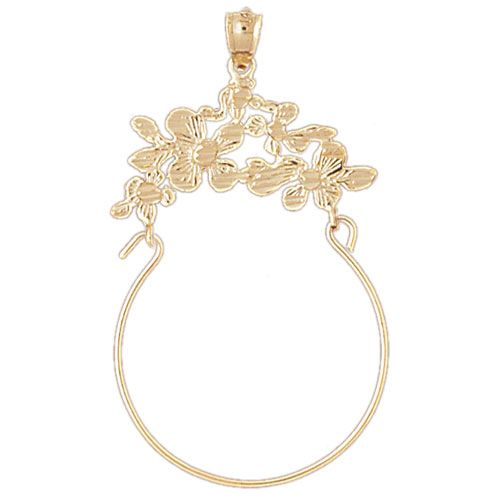 Flower Charm Holder Charm Pendant 14k Gold