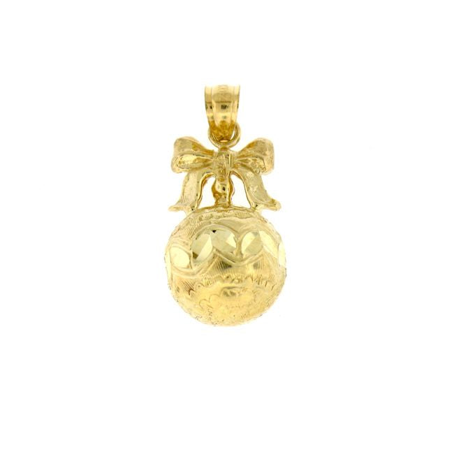 3D Christmas Ornament Charm Pendant 14k Gold