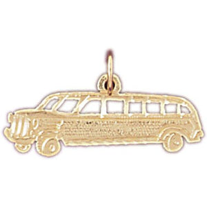 Car Charm Pendant 14k Gold