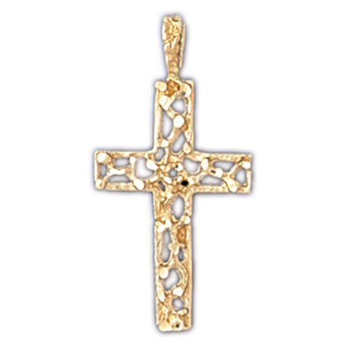 Cross Charm Pendant 14k Gold