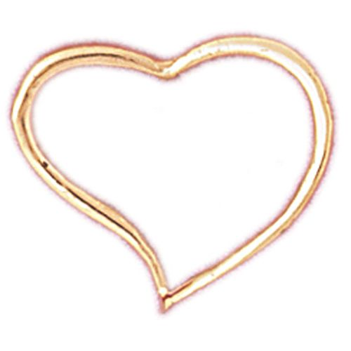 Floating Heart Charm Pendant 14k Gold