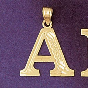 Initial A Charm Pendant 14k Gold