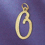 Initial O Classic Charm Pendant 14k Gold