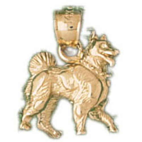 German Shepherd Dog Charm Pendant 14k Gold