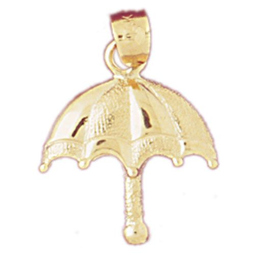 Umbrella Charm Pendant 14k Gold