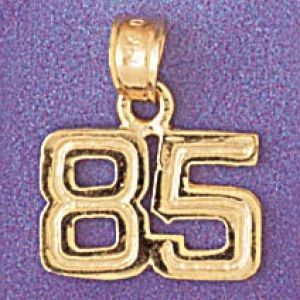 Charm Pendant 14k Gold Number 85