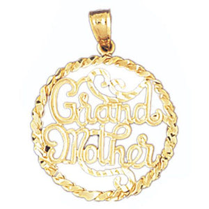 Grandmother Charm Pendant 14k Gold