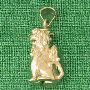 3D Dragon Charm Pendant 14k Gold