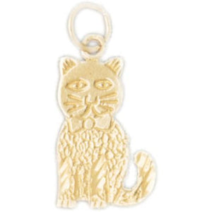 Cat Kitten Charm Pendant 14k Gold