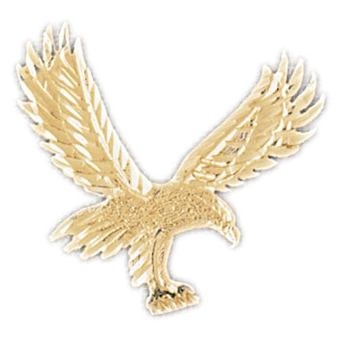 Flying Eagle Charm Pendant 14k Gold