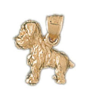 Yorkshire Terrier Dog Charm Pendant 14k Gold