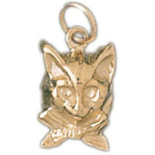 Chihuaha Dog Head Charm Pendant 14k Gold