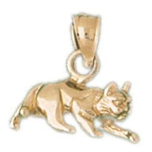 Cat Charm Pendant 14k Gold
