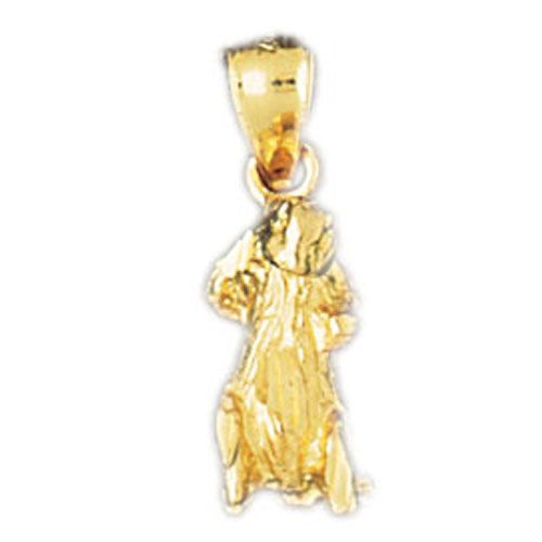 Rodent Charm Pendant 14k Gold