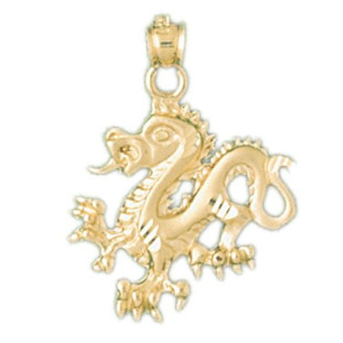 Dragon Charm Pendant 14k Gold