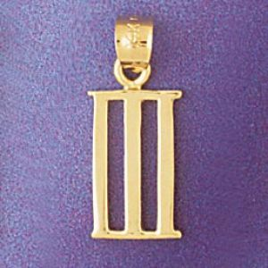 Greek Number 3 Charm Pendant 14k Gold Number 3
