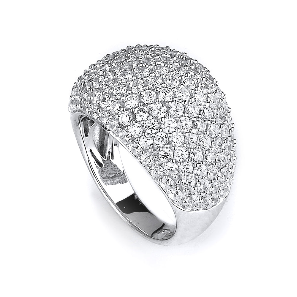 Sterling silver fashion CZ ring
