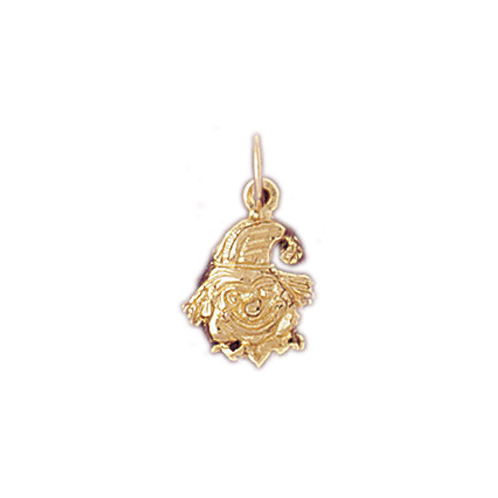 Clown Charm Pendant 14k Gold
