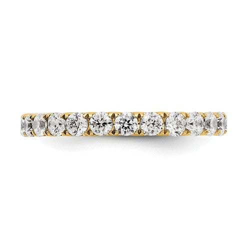 14k 1 1/2CT U Shared Prong Diamond Eternity Band