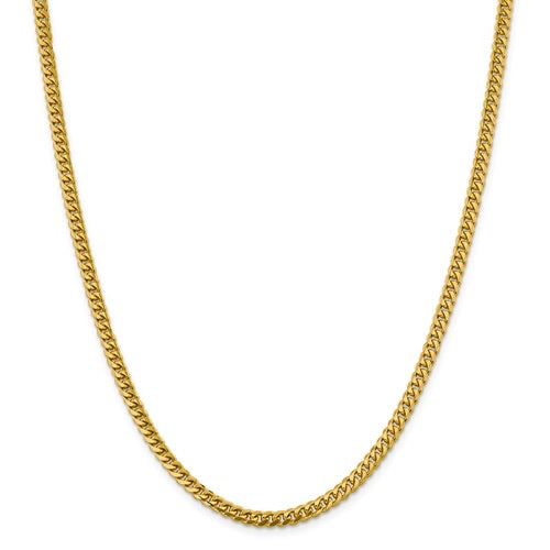 14k 4.25mm Solid Miami Cuban Chain