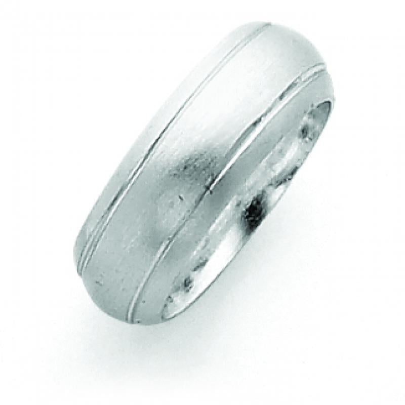 Sterling Silver 7mm Satin Finish Band