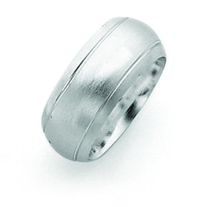 Sterling Silver 9mm Satin Finish Band