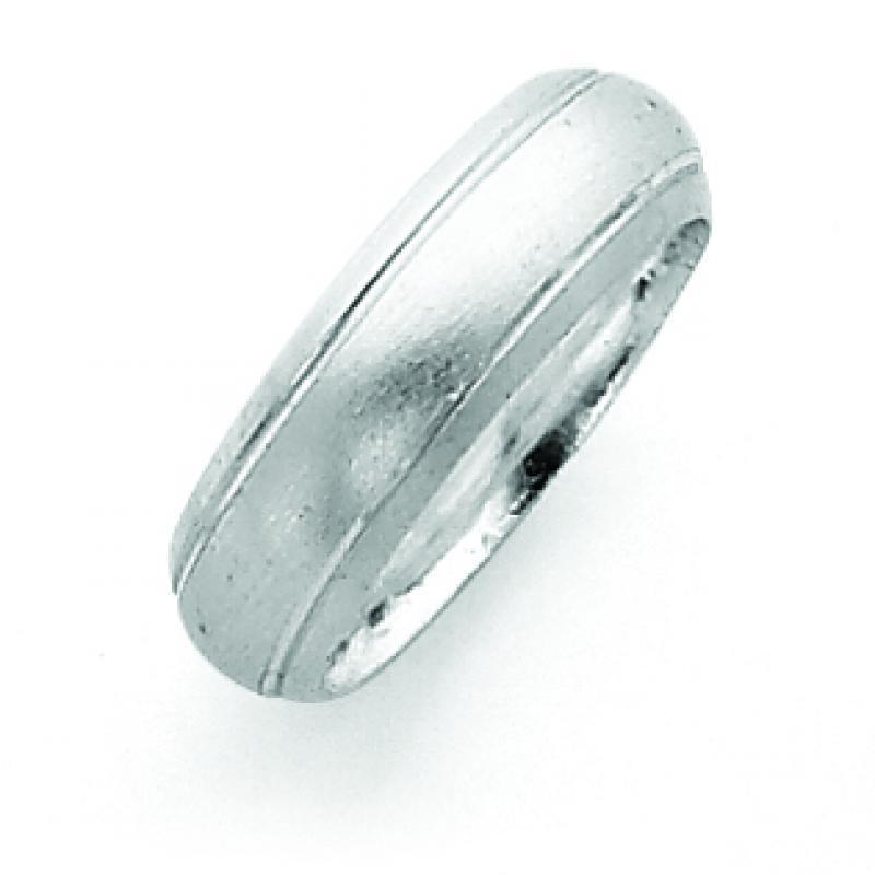 Sterling Silver 6mm Satin Finish Band