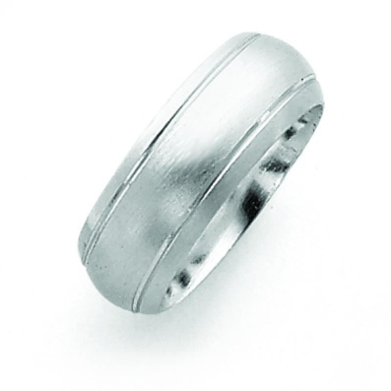 Sterling Silver 8mm Satin Finish Band