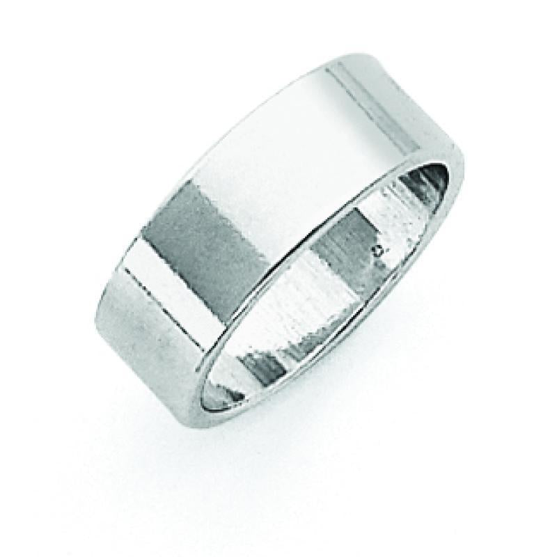 Sterling Silver 7mm Flat Band