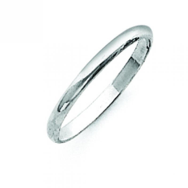 Sterling Silver 0.08 inch Half-Round Band